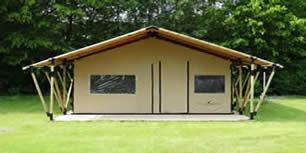 safaritent comfort de luxe met houten frame